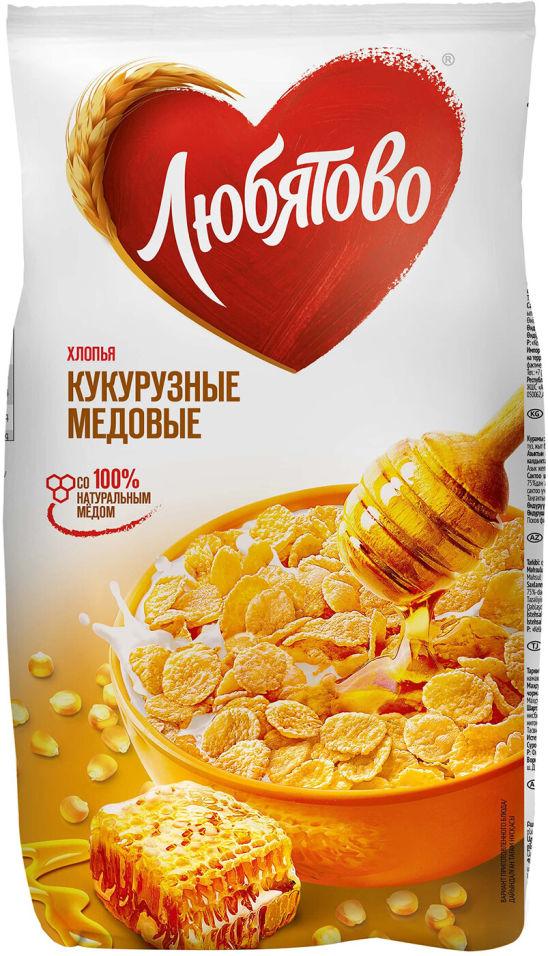 Хлопья Любятово Кукурузные медовые 250г