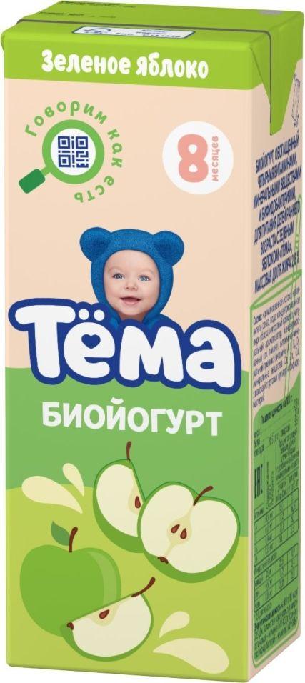 Биойогурт питьевой Тема Зеленое яблоко 2.8% 210г