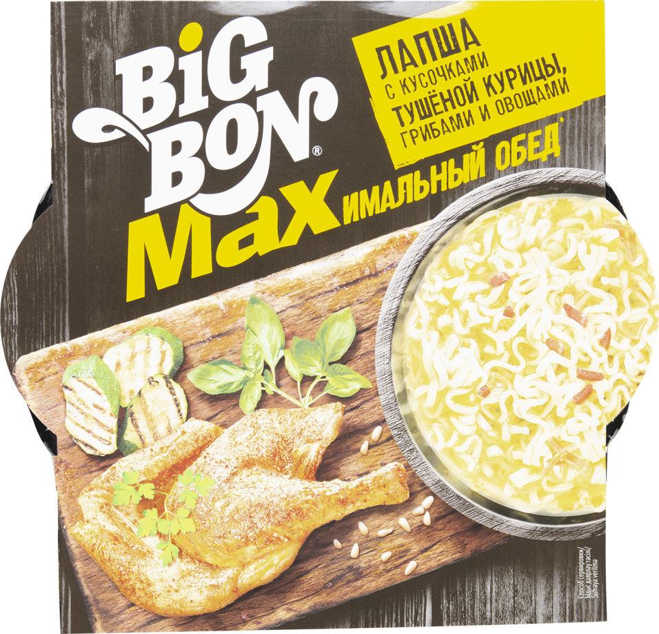 Лапша Big Bon с тушеной курицей грибами и овощами 110г