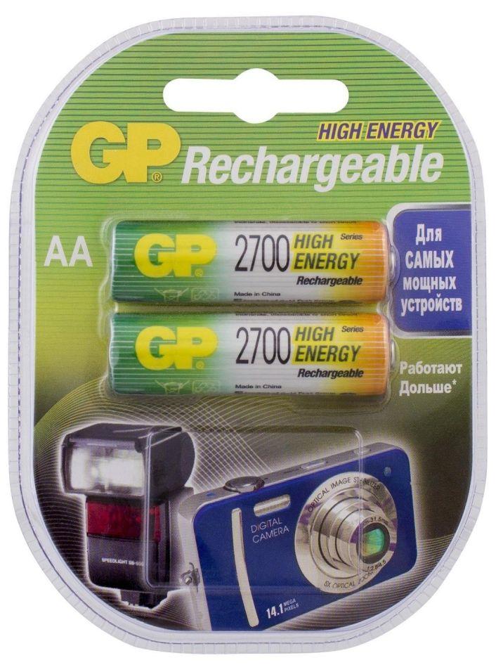 Аккумуляторы GP UC2 1.2V 2700mAh AA 2шт (упаковка 2 шт.)