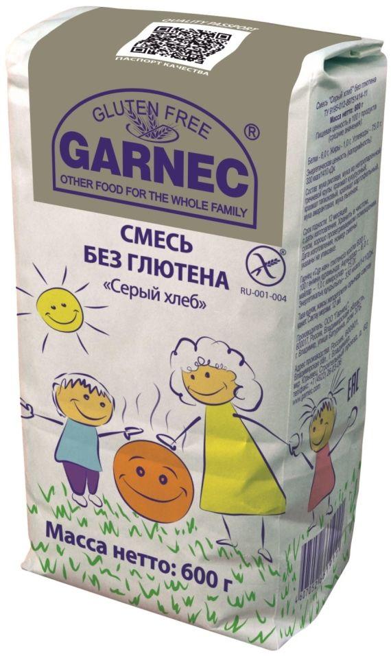 Смесь для выпечки Garnec Серый хлеб без глютена 600г