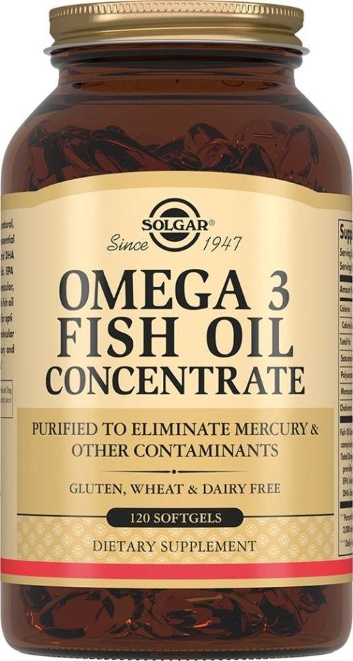 БАД Solgar Концентрат рыбьего жира Омега-3 120 капсул