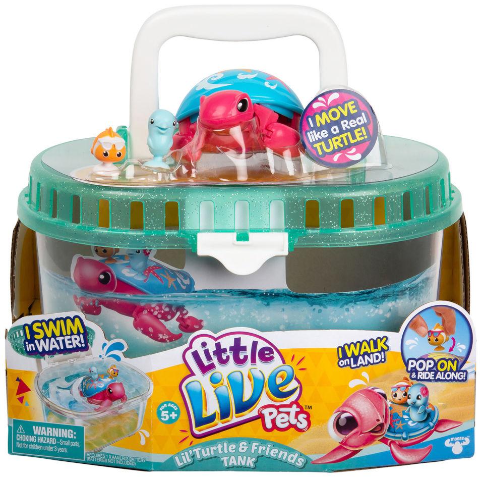 Интерактивная игрушка Little Live Pets Черепашка и друзья в аквариуме Песчинка