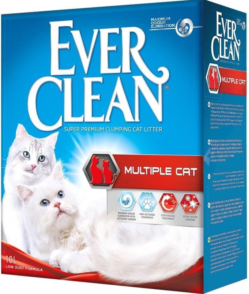 Наполнитель для кошачьего туалета Ever Clean Multiple Cat для нескольких кошек в доме 10л