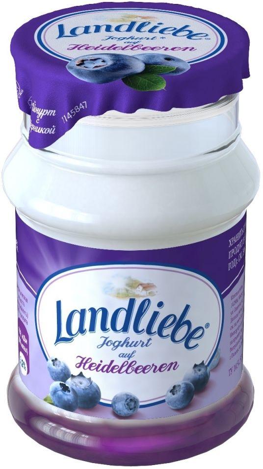Йогурт Landliebe с черникой 3.2% 130г