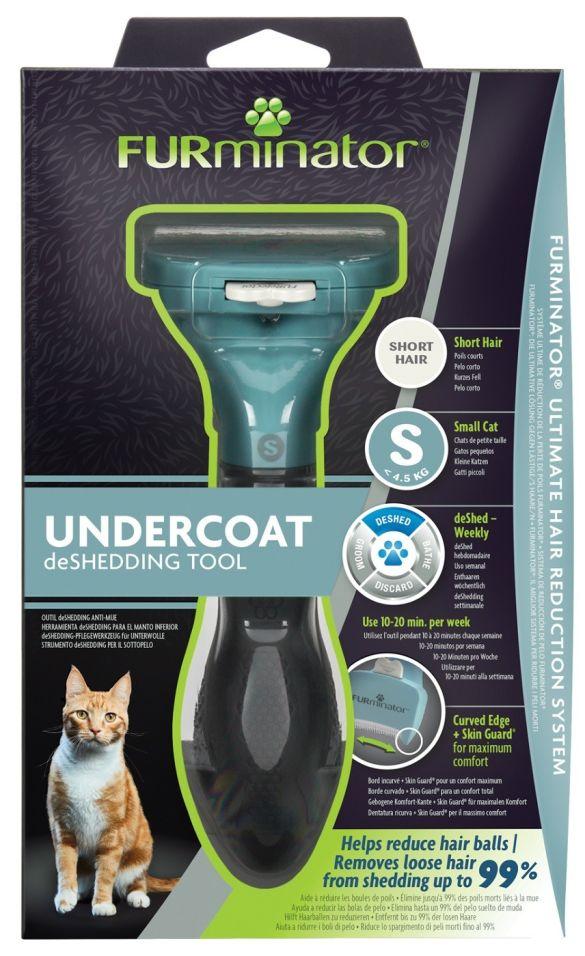 Фурминатор FURminator S для маленьких кошек c короткой шерстью