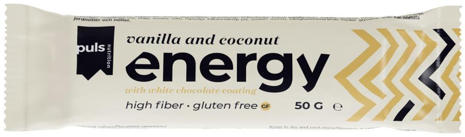 Батончик энергетический Puls Nutrition Puls Bar Energy Ваниль и кокос 50г