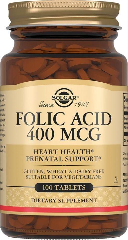 БАД Solgar Фолиевая кислота 100 таблеток