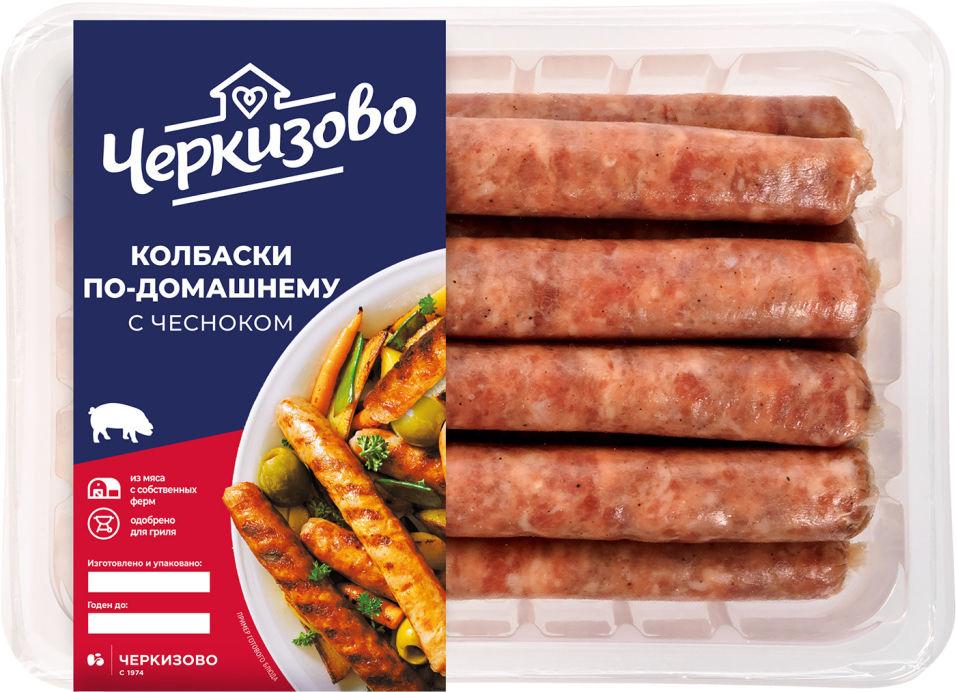 Колбаски свиные Черкизово По-домашнему с чесноком 450г
