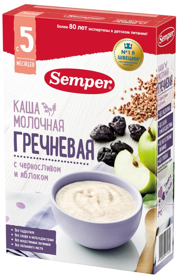Каша Semper молочная гречневая с черносливом и яблоком с 5 месяцев 180г