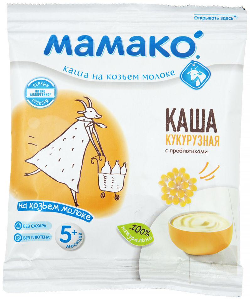 Каша Мамако Кукурузная с пребиотиками на козьем молоке с 5 месяцев 30г (упаковка 4 шт.)