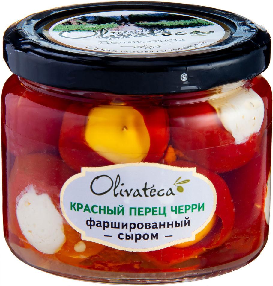 Перец Olivateca Красный Черри фаршированный сыром 290г