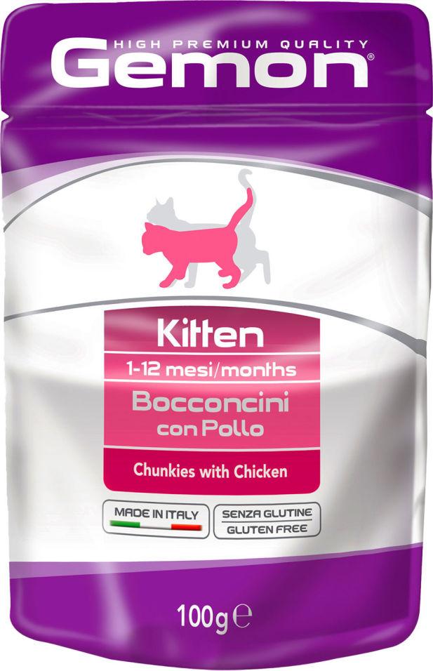 Корм для котят Gemon Cat Pouch кусочки курицы 100г
