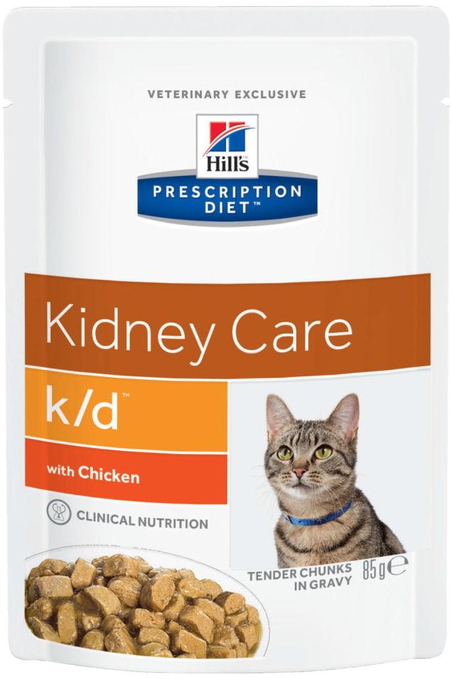 Корм для кошек Hills Prescription Diet при проблемах с почками с курицей 85г