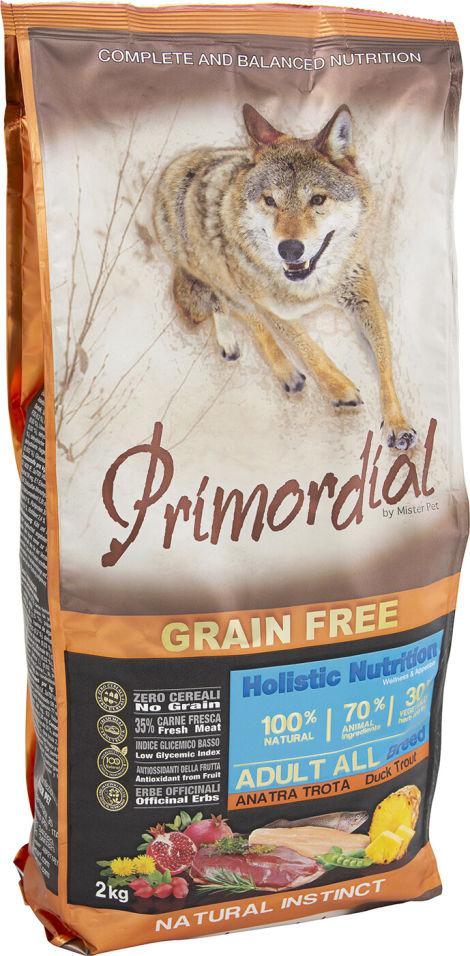 Сухой корм для собак Primordial Форель и Утка 2кг