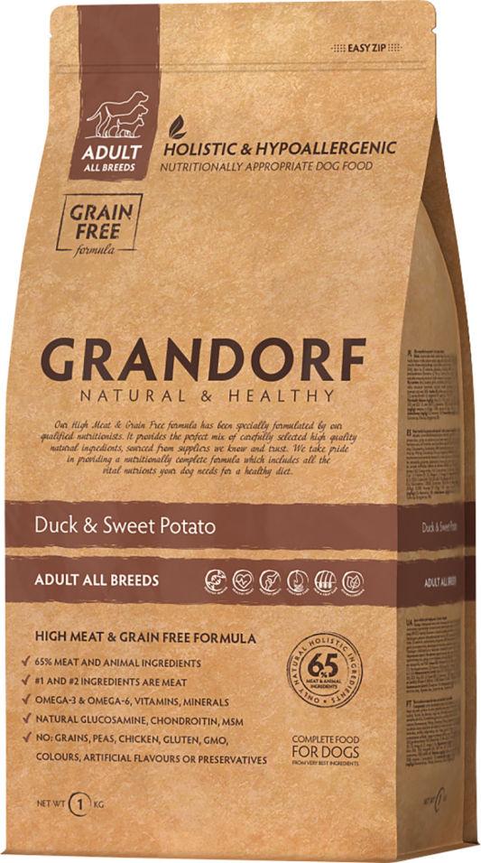 Сухой корм для собак Grandorf Adult all Утка с бататом 1кг