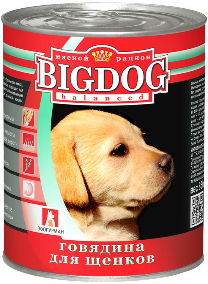 Корм для щенков Зоогурман Big Dog Говядина 850г