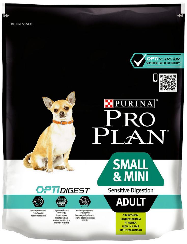 Сухой корм для собак Pro Plan Optidigest Small&Mini Adult Sensitive с ягненком и рисом 700г