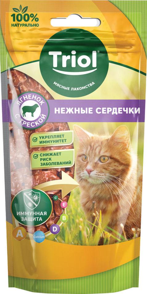 Лакомство для кошек Triol Нежные сердечки Ягненок-треска 40г
