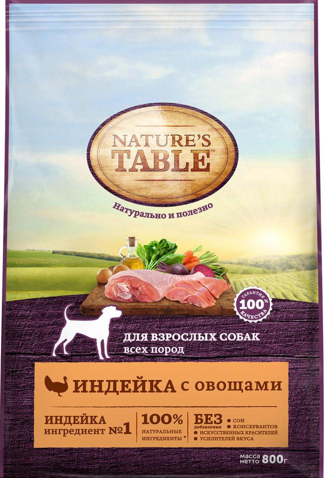 Отзывы о Сухом корме для собак Natures Table Индейка с овощами 800г