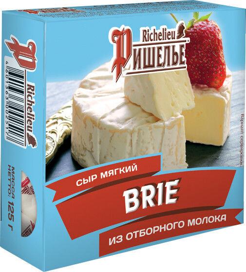 Отзывы о Сыре Ришелье Бри мягкий с белой плесенью 45% 125г