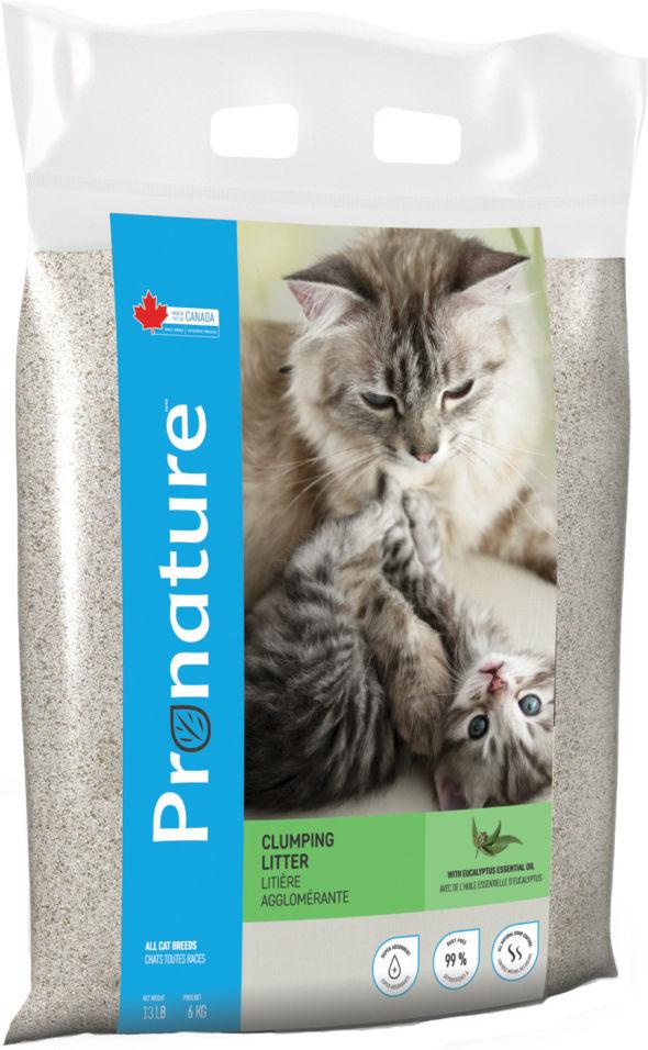 Наполнитель для кошачьего туалета Pronature комкующийся с маслом эвкалипта 6кг