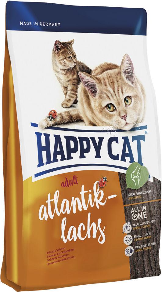 Сухой корм для взрослых кошек Happy Cat Лосось 0.3кг