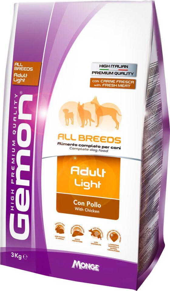 Сухой корм для собак Gemon Dog Light низкокалорийный для всех пород 3кг