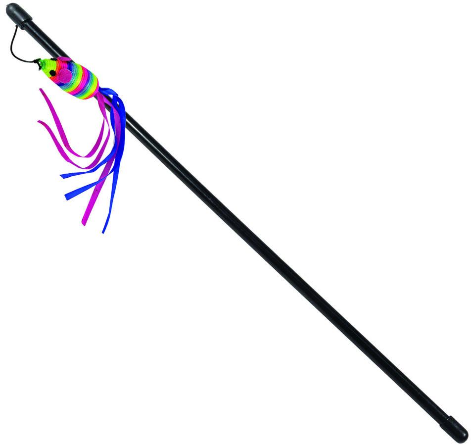 Игрушка для кошек Triol Дразнилка Мышка разноцветная