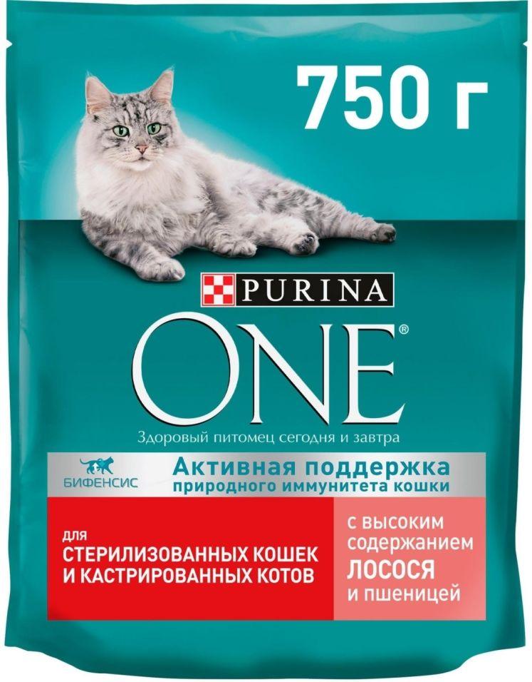 Отзывы о Сухой корм для кошек Purina One для стерилизованных кошек с лососем и пшеницей 750г