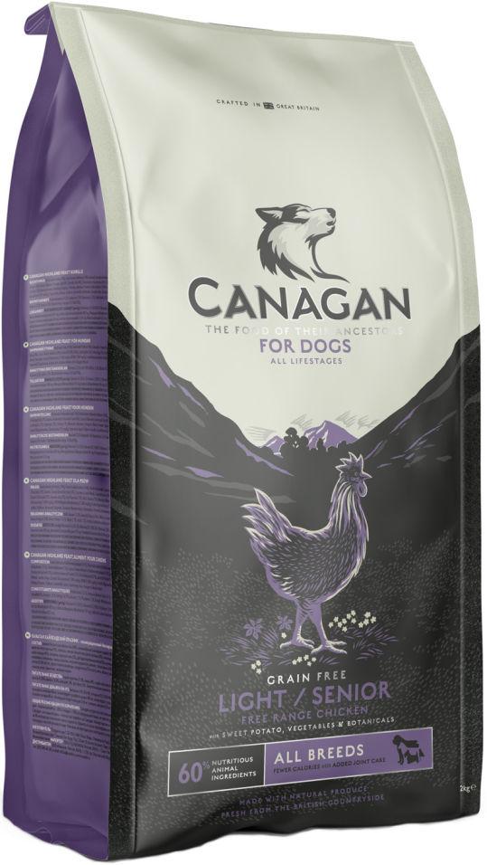 Сухой корм для собак Canagan Light/Senior Цыпленок 6кг