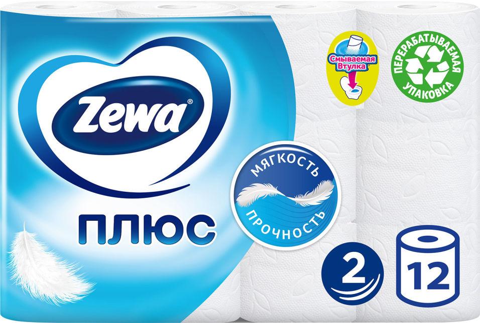 Отзывы о Туалетной бумаге Zewa Плюс Белая 12 рулонов 2 слоя