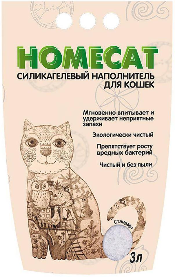 Наполнитель для кошачьего туалета Homecat Без запаха 3л
