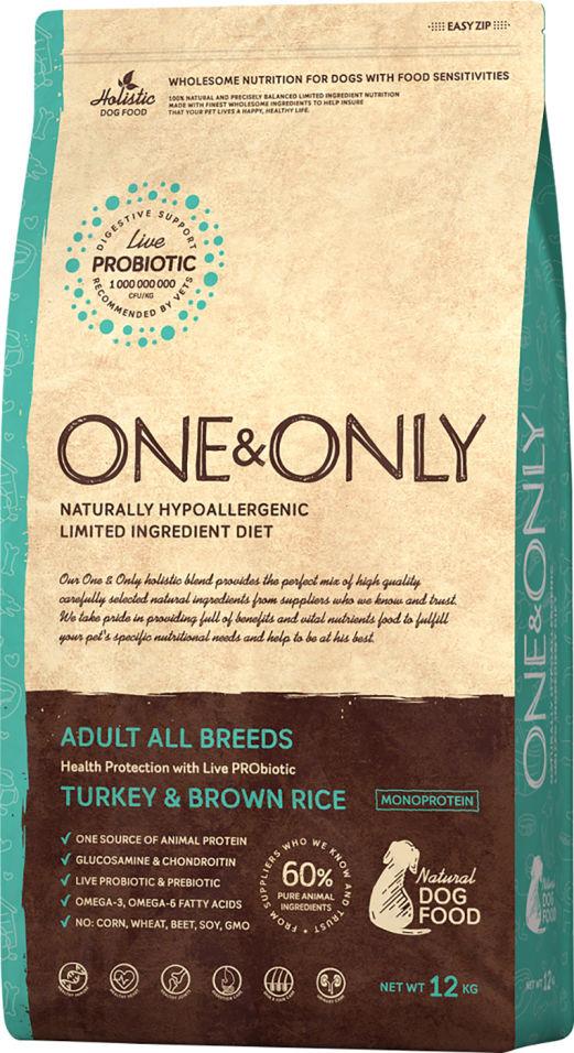 Сухой корм для собак One&Only Adult аll индейка с рисом 12кг