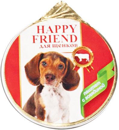 Корм для щенков Happy Friend Паштет с говядиной 125г