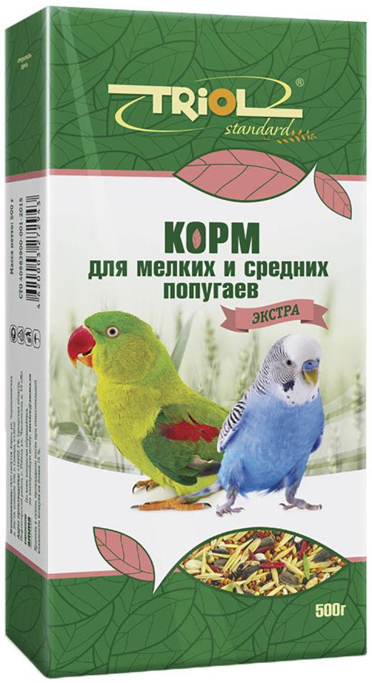 Отзывы о Корм для птиц Triol Экстра для мелких и средних попугаев 500г