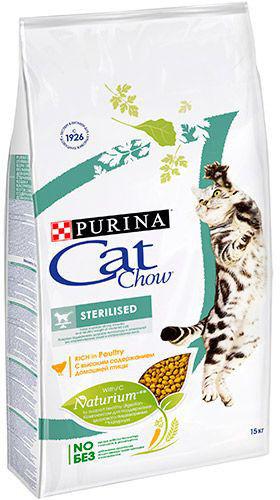 Сухой корм для кошек Cat Chow Sterilised 15кг