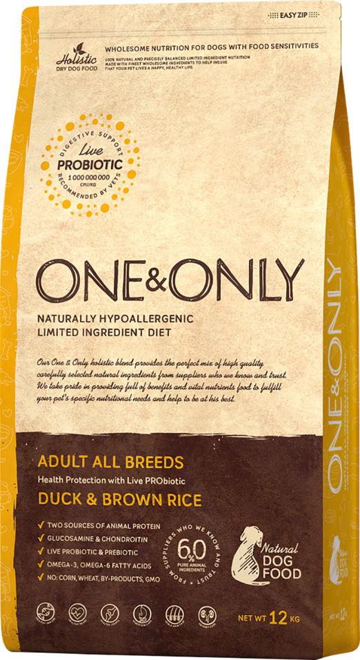 Сухой корм для собак One&Only Adult аll утка с рисом 12кг