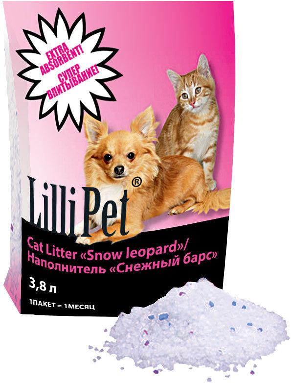 Наполнитель для туалетов Lilli Pet Снежный барс силикагель 3.8л