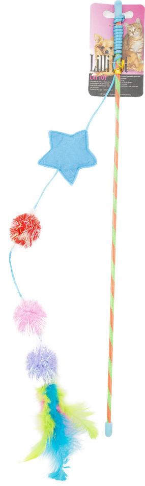 Игрушка для кошек Lilli Pet Удочка Color ball 46см