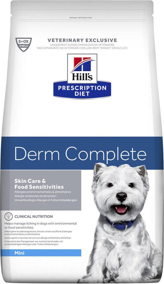 Сухой корм для собак Hills Prescription Diet Derm Complete Mini для мелких пород для здоровья кожи и при аллергиях 1.5кг