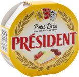 Сыр President Petit Brie мягкий с белой плесенью 60% 125г