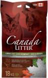 Наполнитель для кошачьего туалета Canada Litter комкующийся 18кг