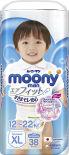 Подгузники-трусики Moony Man для мальчиков размер XL 12-22кг 38шт