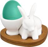 Подставка под яйцо Elan Gallery Белый кролик  + солонка