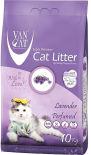 Наполнитель для кошачьего туалета Van Cat Лаванда комкующийся 10кг