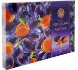 Конфеты Микаелло чернослив и абрикос в шоколадной глазури с орехами 220г