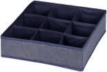 Органайзер для хранения Hausmann 9 ячеек 30*30*9см синий