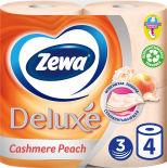 Туалетная бумага Zewa Deluxe Персик 4 рулона 3 слоя