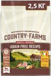 Сухой корм для собак мелких пород Country Farms Grain Free Reсipe с индейкой 2.5кг
